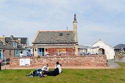 view of Rocketeer  seafood restaurant in North Berwick, East Lothian, Scotland, United Kingdom