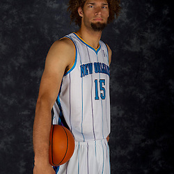 October 1, 2012; Westwego, LA, USA; New Orleans Hornets center Robin Lopez (15) poses for a portrait during Media Day at the Alario Center. Mandatory Credit: Derick E. Hingle-US PRESSWIRE