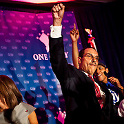 D.C. Mayoral Candidate Vince Gray celebrates after winning the Democratic Primary in Washington, D.C. on Wednesday, September 15th, 2010...Samuel Corum for TBD