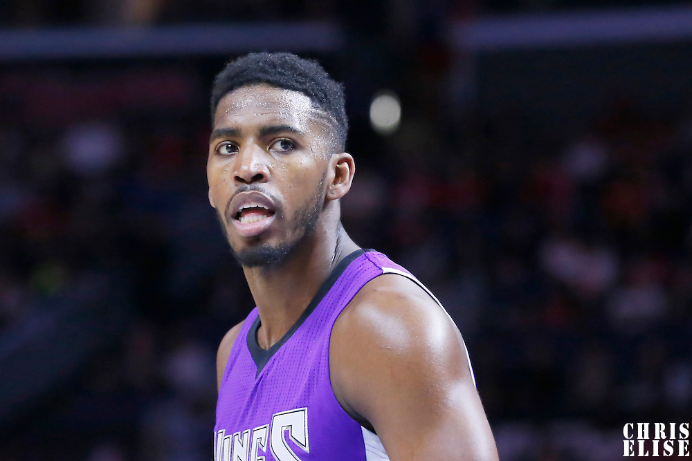 02 November 2014: Sacramento Kings forward Jason Thompson (34) rests during the Sacramento Kings 98-92 victory over the Los Angeles Clippers, at the Staples Center, Los Angeles, California, USA.