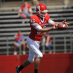 Apr 18, 2009; Piscataway, NJ, USA; Rutgers P Teddy Dellaganna punts the ball away during the first half of Rutgers' Scarlet and White spring football scrimmage.