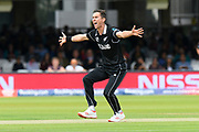 Trent Boult of New Zealand unsuccessfully appeals for an lbw against during the ICC Cricket World Cup 2019 Final match between New Zealand and England at Lord's Cricket Ground, St John's Wood, United Kingdom on 14 July 2019.