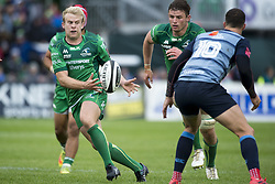 September 23, 2017 - Galway, Ireland - Andrew Deegan of Connacht catches the ball during the Guinness PRO14 Conference A match between Connacht Rugby and Cardiff Blues at the Sportsground in Galway, Ireland on September 23, 2017  (Credit Image: © Andrew Surma/NurPhoto via ZUMA Press)