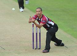 Alfonso Thomas of Somerset - Photo mandatory by-line: Dougie Allward/JMP - Mobile: 07966 386802 - 19/06/2015 - SPORT - Cricket - Bristol - County Ground - Gloucestershire v Somerset - Natwest T20 Blast