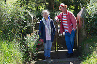 Picture By Jim Wileman 29/08/2012  Author Michael Morpurgo, pictured with his wife Clare, in Iddesleigh, Devon.