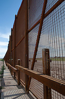 Border Fence on Rio Grande near Fabens, TX