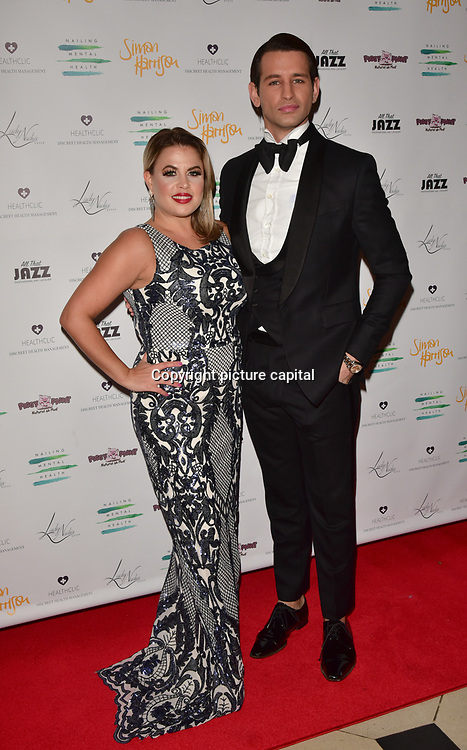 Nadia Essex,Ollie Locke Arrivers at the Nailing Mental Health: Valentine's Ball The Hurlingham Club, Ranelagh Gardens on 14 Feb 2018, London, United Kingdom