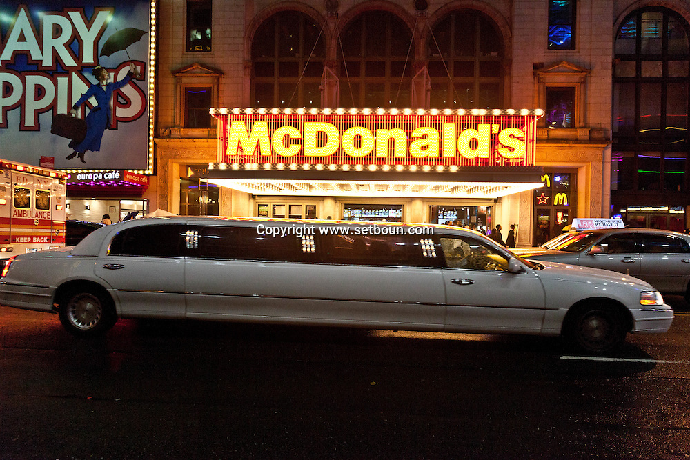 USA New York, Times square , Mac donald's restaurant on 42nd street