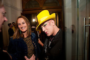 BOY GEORGE; , Isabella Blow  by Martina Rink.  Haunch of Venison. London. 13 September 2010., DO NOT ARCHIVE-© Copyright Photograph by Dafydd Jones. 248 Clapham Rd. London SW9 0PZ. Tel 0207 820 0771. www.dafjones.com.