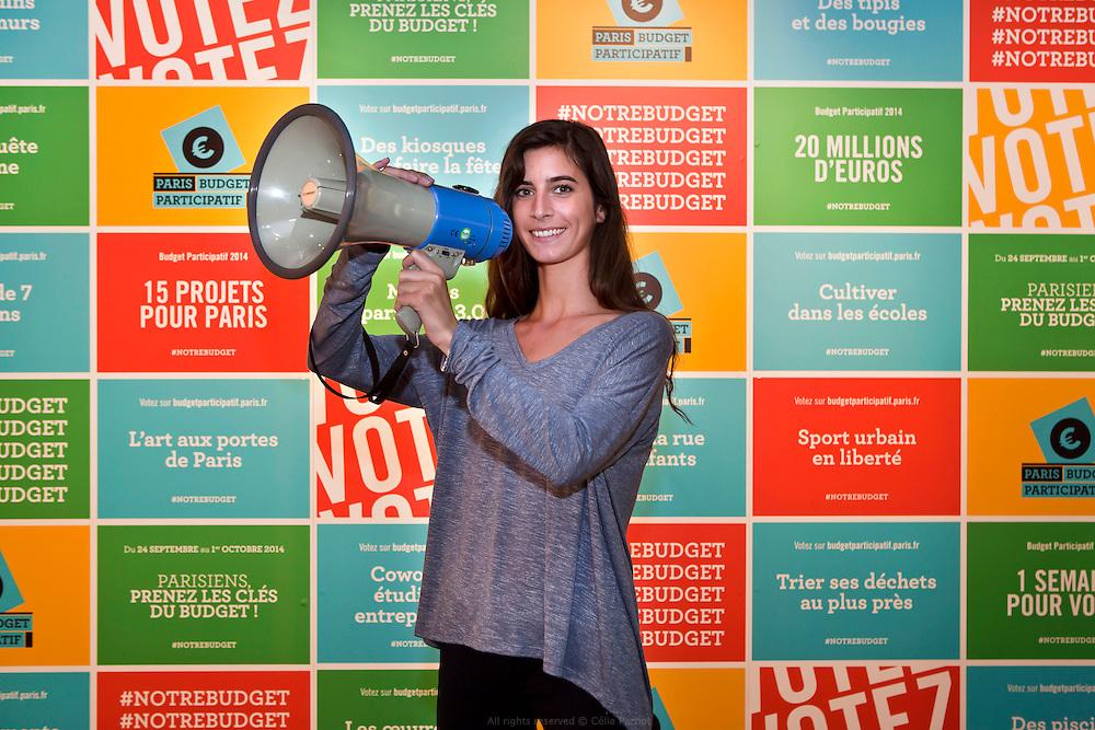Portrait pour l'appel au vote du budget participatif de la Ville de Paris.