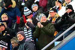 Exeter Chiefs fans celebrate a try - Mandatory by-line: Dougie Allward/JMP - 30/11/2019 - RUGBY - Sandy Park - Exeter, England - Exeter Chiefs v Wasps - Gallagher Premiership Rugby