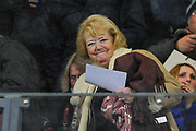 Hearts owner Ann Budge takes her seat for the Ladbrokes Scottish Premiership match between Heart of Midlothian and Kilmarnock at Tynecastle Stadium, Gorgie, Scotland on 27 February 2018. Picture by Kevin Murray.