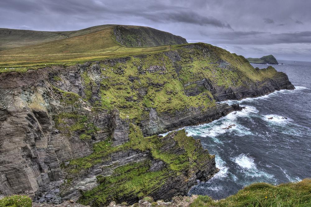 Cliffs along the Slea Head Drive along the Dingle Peninsula Ireland