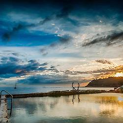 Fairy Bower pool sunrise, Cabbage Tree Bay