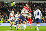Middlesbrough forward Ashley Fletcher (11) heads towards goal during the FA Cup third round replay match between Tottenham Hotspur and Middlesbrough at Tottenham Hotspur Stadium, London, United Kingdom on 14 January 2020.