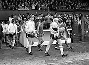 The teams take to the pitch for the FAI Cup Final. In the event, Dundalk beat Sligo Rovers 2–0. The winning goals were scored by John Archbold and Mick Fairclough.<br />