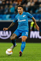 February 21, 2019 - Saint Petersburg, Russia - Sebastian Driussi of FC Zenit Saint Petersburg in action during the UEFA Europa League Round of 32 second leg match between FC Zenit Saint Petersburg and Fenerbahce SK on February 21, 2019 at Saint Petersburg Stadium in Saint Petersburg, Russia. (Credit Image: © Mike Kireev/NurPhoto via ZUMA Press)