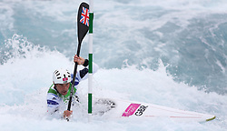 File photo dated 01-08-2012 of Great Britain's Richard Hounslow makes his way through a gate during the Men's Kayak Single (K1) Semi-Final