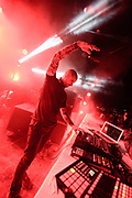 DETROIT – MAY 29: Chris Liebing performs on the pyrymid stage during the Movement Electronic Music Festival Monday, May 29, 2017 at Hart Plaza in downtown Detroit.(Photo by Bryan Mitchell)