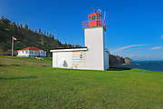 Cape d'Or Lighthouse on the Bay of Fundy where it runs into the Minas Channel<br /> Near Advocate Harbour<br /> Nova Scotia<br /> Canada