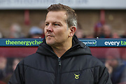 Forest Green Rovers head coach, Mark Cooper during the EFL Sky Bet League 2 match between Cheltenham Town and Forest Green Rovers at Jonny Rocks Stadium, Cheltenham, England on 2 November 2019.