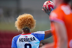 03-12-2019 JAP: Netherlands - Cuba, Kumamoto<br /> Third match 24th IHF Women's Handball World Championship, Netherlands win the third match against Cuba with 51- 23. / Arisleidy Marquez Herrera #8 of Cuba