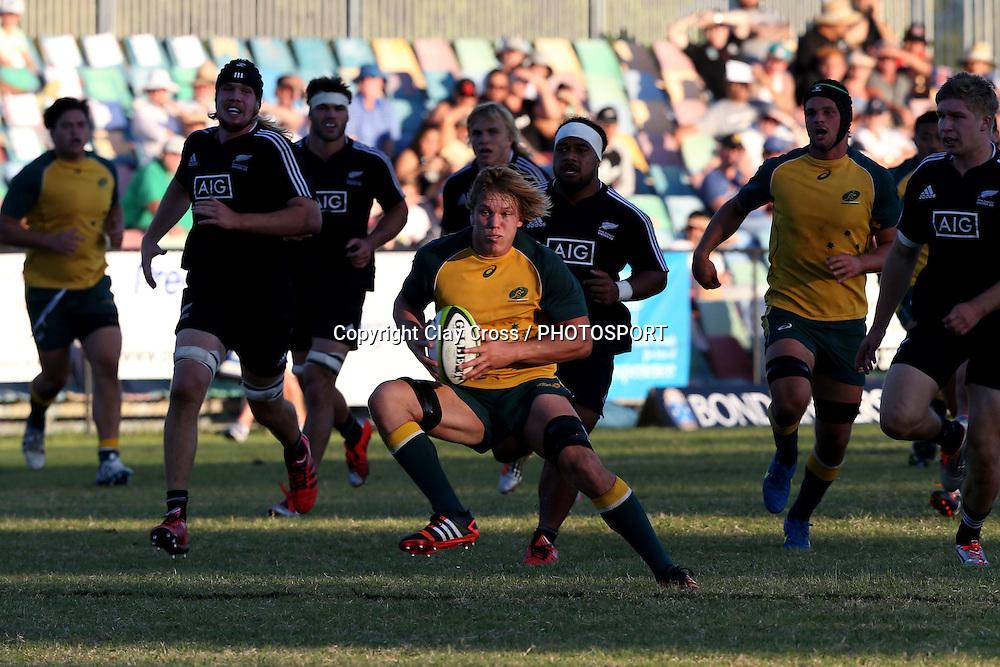 Michael Gunn. Australia v New Zealand Under 20s. 2015 Oceania Rugby Junior Championship. Bond University, Gold Coast Australia. Saturday 9 May 2015. Photo: Clay Cross / photosport.co.nz