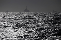 NORTH SEA MYAS 17JUN19 - The BP-chartered drill rig  Transocean 'The Paul B Loyd Jr' rig seen from aboard the Greenpeace ship Arctic Sunrise in the North Sea.<br /> <br /> jre/Photo by Jiri Rezac / Greenpeace<br /> <br /> © Jiri Rezac 2019