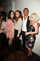 Left to right, LOIS WINSTONE, her cousin LORNA GREEN, CHRIS SIMON and JAIME WINSTONE at a party following the premier of Boogie Woogie held at The Westbury Hotel, Conduit Street, London on 13th April 2010.