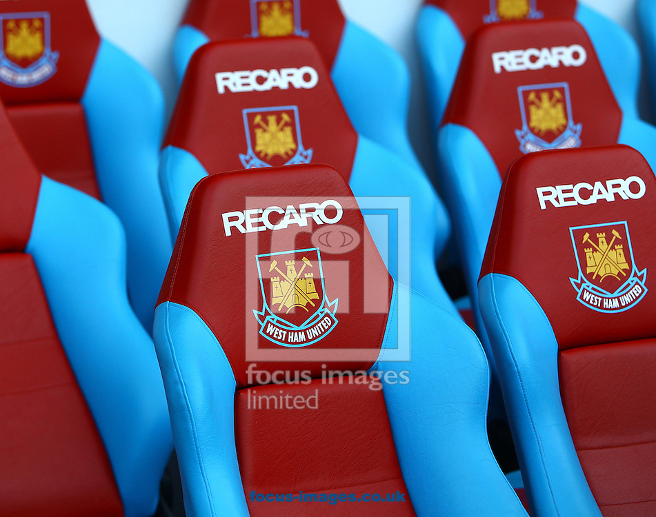Picture by John Rainford/Focus Images Ltd. 07506 538356.21/01/12.General view of the dugout seating at The Boleyn Ground, London.