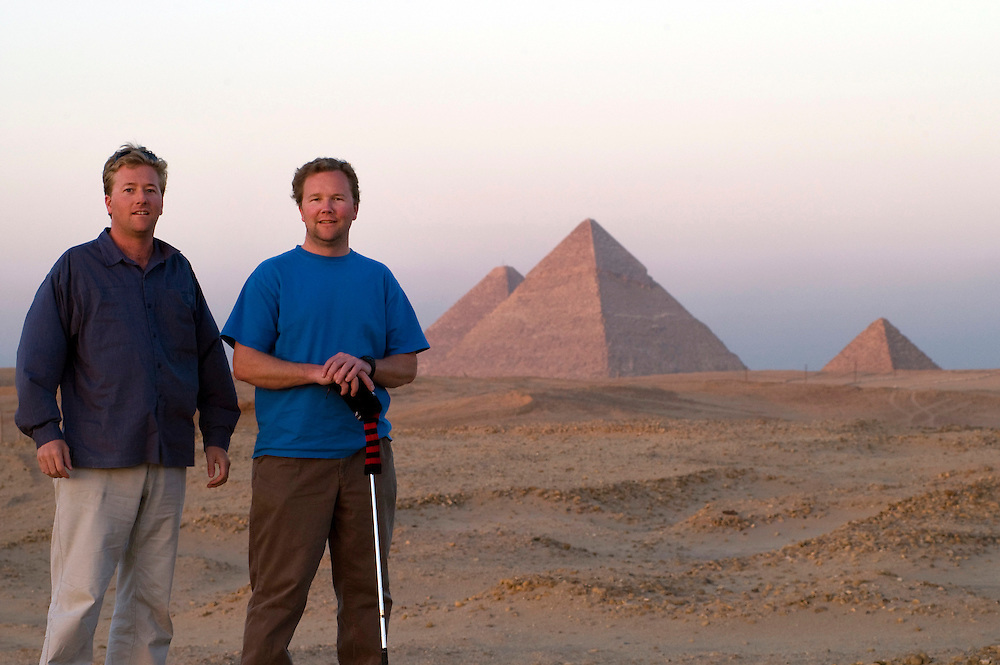Roger and me at the Pyramids in Egypt in 2005. Roger and his family were stationed in Cairo with the State Department until 2007 when he was daignosed with leukemia.