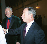 Conrad Black and Michael Bloomberg. Baby 2000 dinner. Atlantis Gallery, Brick Lane. London. 11Nov 1999. <br />