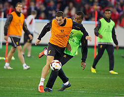 MELBOURNE, AUSTRALIA - Tuesday, July 23, 2013: Liverpool's Stewart Downing during a training session at the Melbourne Cricket Ground ahead of their preseason friendly against Melbourne Victory. (Pic by David Rawcliffe/Propaganda)