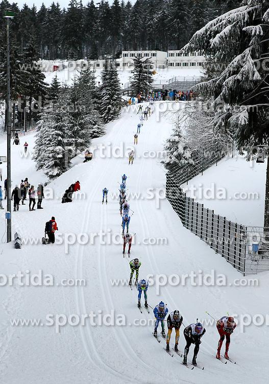 31.12.2011, DKB-Ski-ARENA, Oberhof, GER, Viessmann Tour de Ski 2011, FIS Langlauf Weltcup, Verfolgung Herren, im Bild das Starterfeld bergab // during men's pursuitof Viessmann Tour de Ski 2011 FIS World Cup Cross Country at DKB-SKI-Arena Oberhof, Germany on 2011/12/31. EXPA Pictures © 2011, PhotoCredit: EXPA/ nph/ Hessland..***** ATTENTION - OUT OF GER, CRO *****