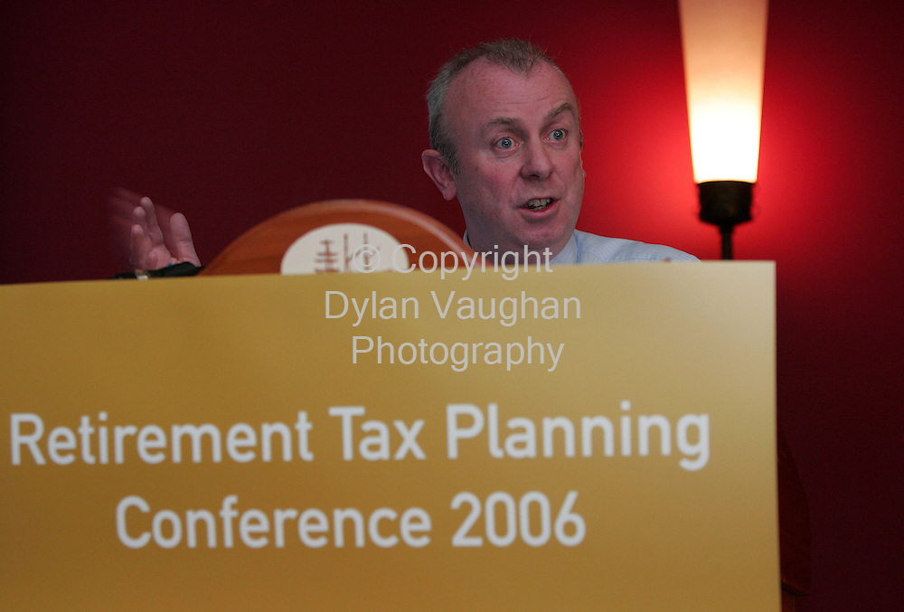 6/10/2006.Free picture no charge for use.Pat Ryan, Canada Life pictured addressing delegates at the Waterford Chamber's conference on pension planning.  Speakers cited cost, inertia and the fact that Irish people have no concept of their financial future as key reasons as to why 56% of self employed people are without a pension plan..Picture Dylan Vaughan