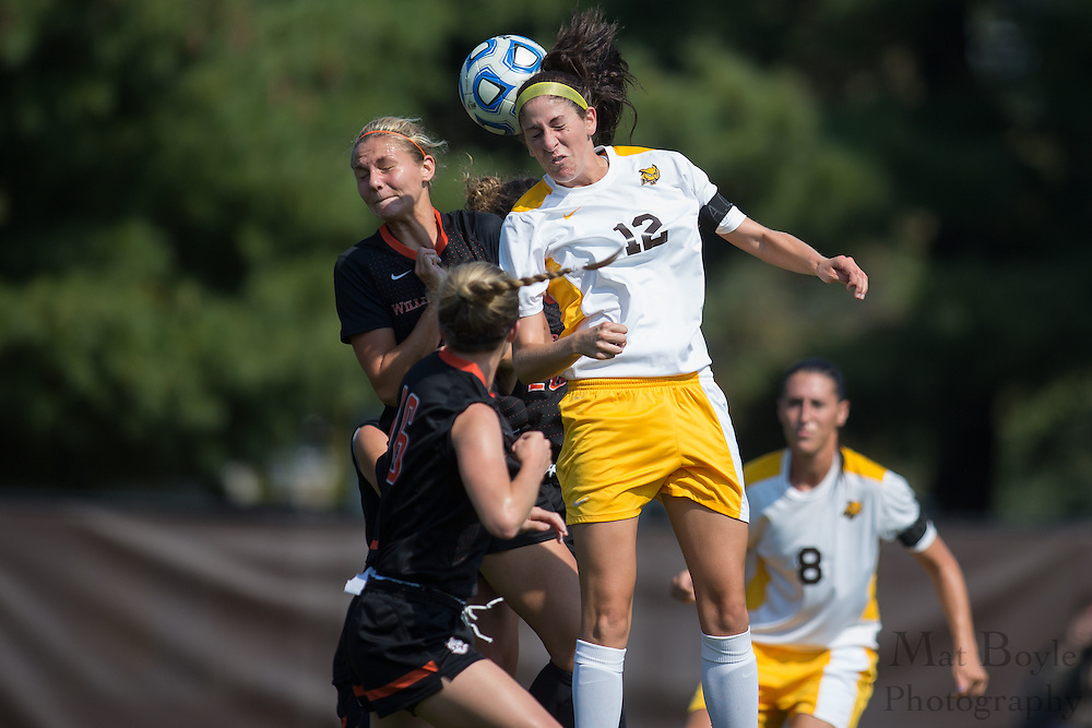 Rowan University Junior Midfielder Chelsea Pitonyak (12) - Rowan University Women's Soccer vs. William Patterson University at Rowan Univeristy Soccer Fields in Glassboro, NJ on Saturday October 5, 2013. (photo / Mat Boyle)