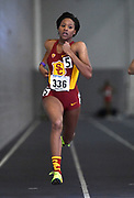 Feb 25, 2017; Seattle, WA, USA; Kyra Constantine of Southern California wins women's 400m heat in 53.93 during the MPSF Indoor Championships at the Dempsey Indoor.