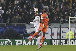 January 24, 2019 - Amiens, France - Juan Ferney Otero Tovar (Amiens SC) Vs Moussa Dembele  (Credit Image: © Panoramic via ZUMA Press)