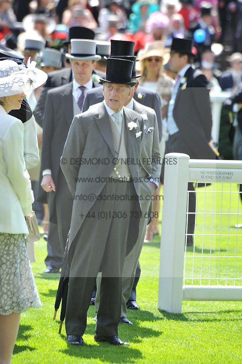 The DUKE OF EDINBURGH at day 1 of the 2011 Royal Ascot Racing festival at Ascot Racecourse, Ascot, Berkshire on 14th June 2011.