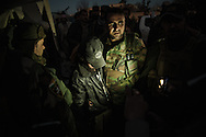 13/11/2015-- Iraq,Sinjar -- Peshmerga forces captured on of the ISIS fighters in a late of evening after liberating Sinjar.