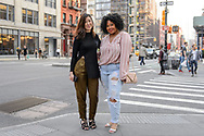 Two Friends in Spring Outfits, Noho, April 2018