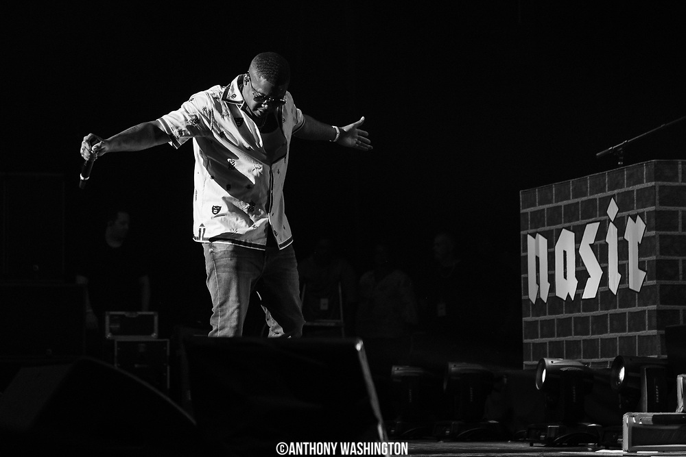 Nas performs during Summer Spirit Festival 2018 at Merriweather Post Pavilion in Columbia, MD on Saturday, August 5, 2018.