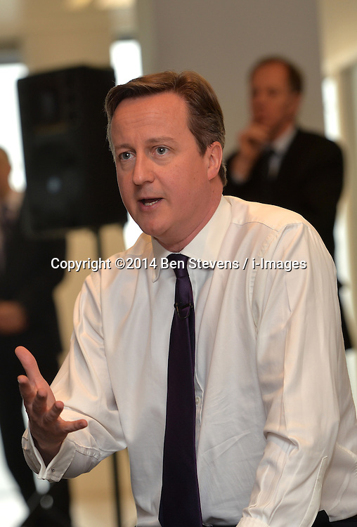 David Cameron holds a Q &amp; A at Global radio in Birmingham.<br /> Day 2 of Prime Minister David Cameron's regional tour. <br /> Thursday, 3rd April 2014. Picture by Ben Stevens / i-Images