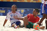 Footbal-FIFA Beach Soccer World Cup 2006 - Final- FRA xPOR -Belchior and Castro  -Rio de Janeiro- Brazil - 12/11/2006.<br />Mandatory Credit: FIFA/Ricardo Ayres