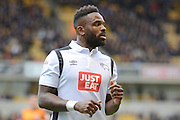 Goalscorer Derby County striker Darren Bent (11) 0-2 during the EFL Sky Bet Championship match between Wolverhampton Wanderers and Derby County at Molineux, Wolverhampton, England on 5 November 2016. Photo by Alan Franklin.