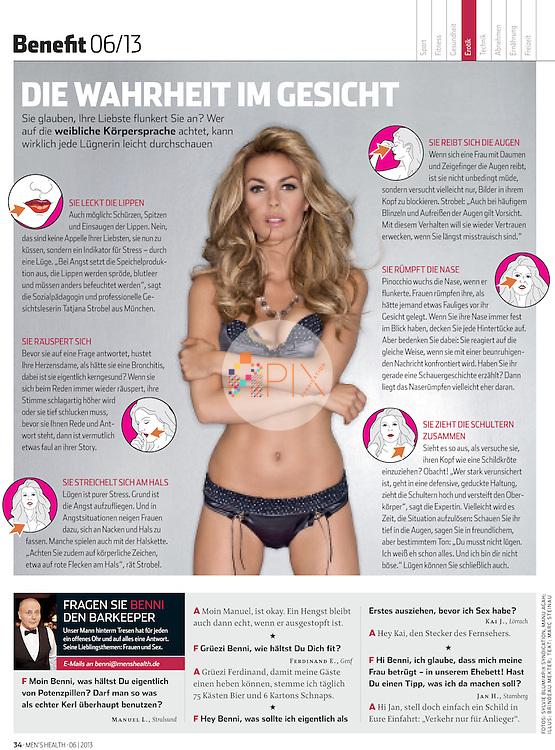 Jasmine Dustin in MEN'S HEALTH Germany :: June 2013