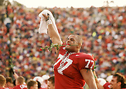COLLEGE FOOTBALL: Stanford v Cal in the Big Game, Nov 20, 1999 at Stanford Stadium in Palo Alto, California.  Willie Howard #77 of Stanford.  Photograph by David Madison