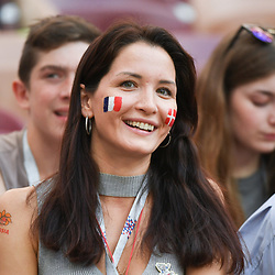 A fan during the FIFA World Cup Group C match between Denmark and France at Luzhniki Stadium on June 26, 2018 in Moscow, Russia. (Photo by Anthony Dibon/Icon Sport)