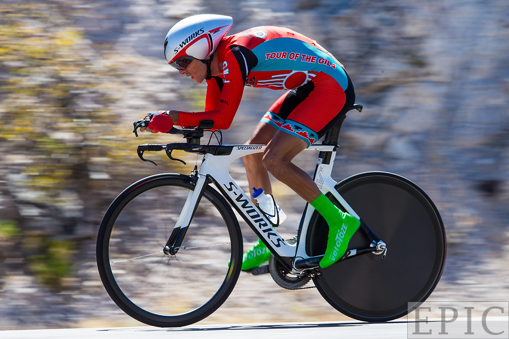 SILVERY CITY, NM - APRIL 20: Oscar Eduardo Snchez Guarn (Canel's-Specialized) during stage 3 of the Tour of The Gila on April 20, 2018 in Silver City, New Mexico. (Photo by Jonathan Devich/Epicimages.us)