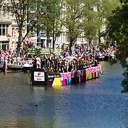 NLD/Amsterdam//20170805 - Gay Pride 2017, Boot ACR Lowlanders